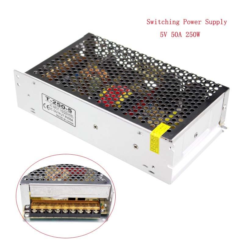 Led Power Supply 5V 50A 250W Led Driver Power Adapter 220V 5V Led Trafo Alimentatore DC5V Power Supply For Led Strip zasilacz 5V