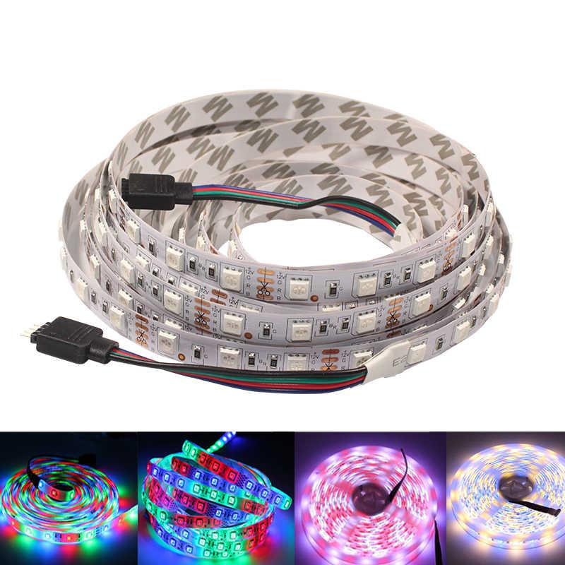Led テープ 12 12v rgb 防水 2835 5050 rgbw 5 メートルアドレス可能フレキシブル led リボン装飾照明ストリップ
