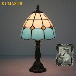 8 Cal turecki mozaiki lampy stołowe ręcznie witraże klosz lampy sypialnia lampki nocne światła lampa stołowa w stylu Vintage oprawy oświetleniowe|Lampy stołowe LED|   -