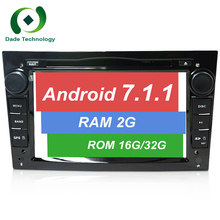 2 din Quad Core Android 7.1.1 Car DVD player gps Radio Stereo for Vauxhall Opel Astra H G Vectra Antara Zafira Corsa 4G TDA 7851