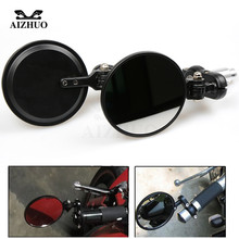 Universal 7/8 Inch Motorcycle Handlebar End Rearview Mirror CNC Aluminum Side Mirrors For Kawasaki Z750 Z800 Z900 Z1000 universal 8mm 10mm motorcycle accessories cnc aluminum clutch wire adjustment cable for kawasaki z900 z800 z1000 z750 zx7r zx110
