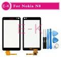 Alta qualidade para Nokia N8 substituição da tela de toque para Nokia N8 toque digitador da tela + ferramentas frete grátis
