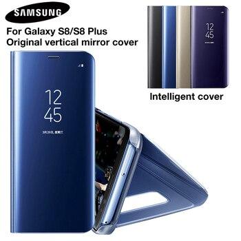 Samsung оригинальный зеркало крышку Clear View Флип Чехол для телефона для samsung Galaxy S8 S8 + S8 плюс Project Dream G9508 G955 G950U S8plus