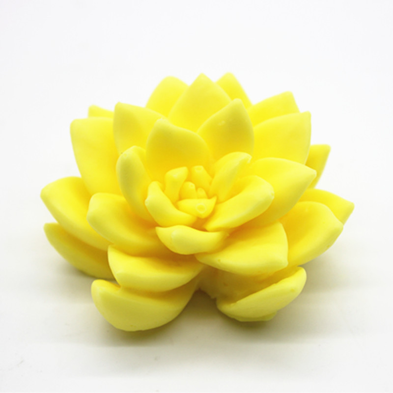 3D succulent flower Artificial Cactus Mould DIY Soap Chocolate Handmade Clay Craft Silicone Mold