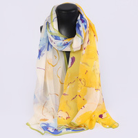 HL772 Wholesale Female silk scarf spring and summer Women Thin Real Silk Scarves