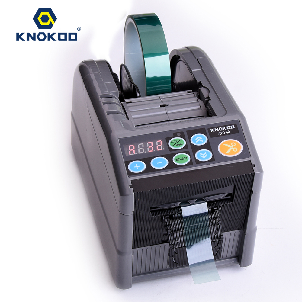 KNOKOO ATD-60 Automatic Tape Dispensers for 6-60mm Tape Cutter Auto Tape Packing Machine Equivalent ZCUT-9 automatic tape dispensers electric tape dispensers automatic tape cutter machines automatic tape dispensing machines