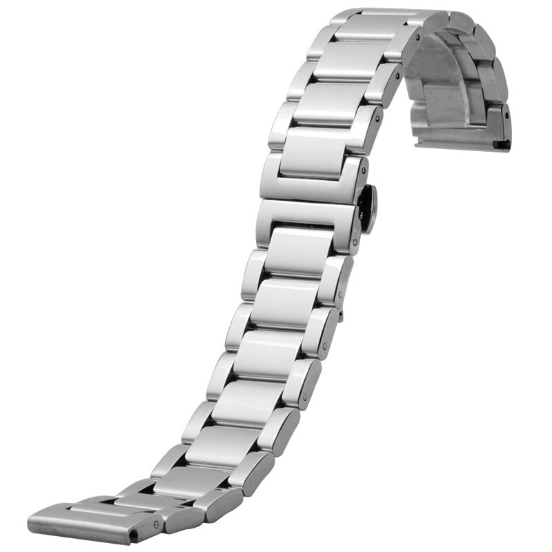 цена на BXG6 Watchstrap 18mm 20mm 21mm 22mm Metal Brushed Watch Bracelet Stainless Steel WatchBand  For Ticwatch/Hamilton  Free Shipping