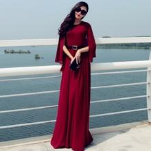 7XL Plus Size Long Maxi Vintage Elegant Women High Waist Maxi Dress Chiffon Dresses