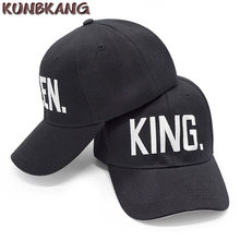 New Fashion KING QUEEN Hip Hop Baseball Cap Snapback Hats Couple Lovers Dad  Bone Black Men Women Embroidery Letter Baseball Hat c80fe5ccdc64
