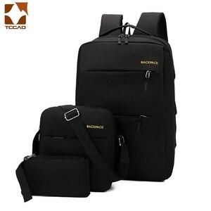 Image 1 - Mochila masculina backpack set 3 Pcs/set male Shoulder Bag Teenagers Man Student Book Bag erkek sırt çantası para adolescentes