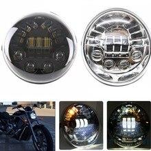 Точка E9 светодиодный Овальный фар с желтыми поворотник Белый дневного света для Harley V стержень VRSCF VRSC VRSCR harley налобный фонарь