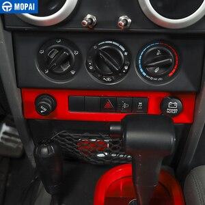 Image 5 - Samochód MOPAI centralna nawigacja klimatyzacja zestaw dekoracyjny pokrywa naklejki akcesoria dla Jeep Wrangler JK 2007 2008 2009 2010