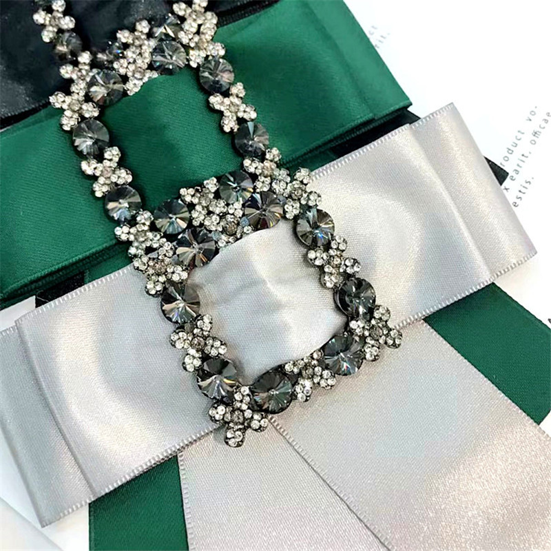 Korea New Handmade Solid Fabric Rhinestone Shirt Pin Neck Bow Tie Bowknot  Apparel Accessories Fashion Jewelry YHNLB013F-in Brooches from Jewelry ... 0de830dcfc3e