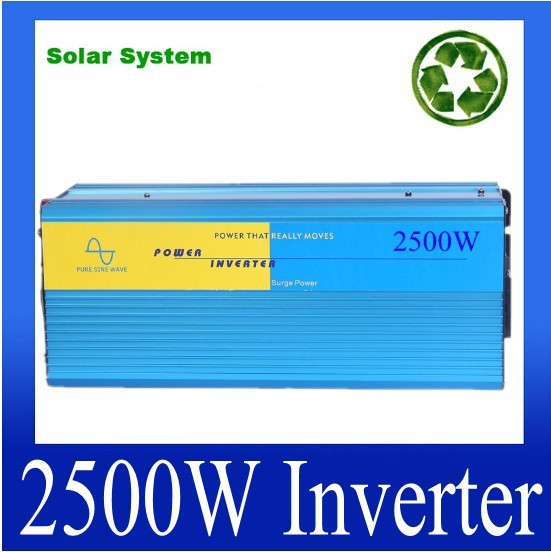 цена на Inversor de onda pura 2500watt digital display 2500W Pure Sine Wave Power Inverter Converter 12V DC to 220V AC 5000 Watt Peak