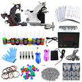 Navio Dos EUA Pro Kit Tattoo Completa 2 Tattoo Machine armas 10 tintas de Cores Poder Agulhas Dicas Grips Fornecimento de Equipamentos conjunto