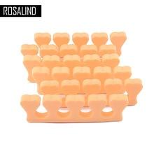 ROSALIND 5pcs Toe Separators Finger Foot Sponge Soft Gel UV Tools Salon Polish Manicure Pedicure Nail Art Tools Orange Colors