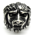Men's African Lion Ring,Fashion 316L Stainless Steel Men Jewelry Silver Ring