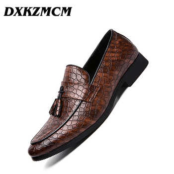 DXKZMCM 2019 Formal Shoes Men Pointed Toe Casual Wedding Party Liesure Dress Shoes Men Oxfords Drop Shipping - DISCOUNT ITEM  45% OFF All Category