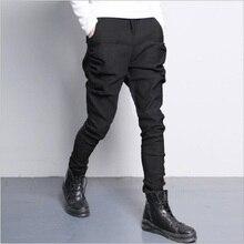 Мужские эластичные штаны для бега, хип-хоп модные повседневные штаны для бега, Мужские штаны для бега