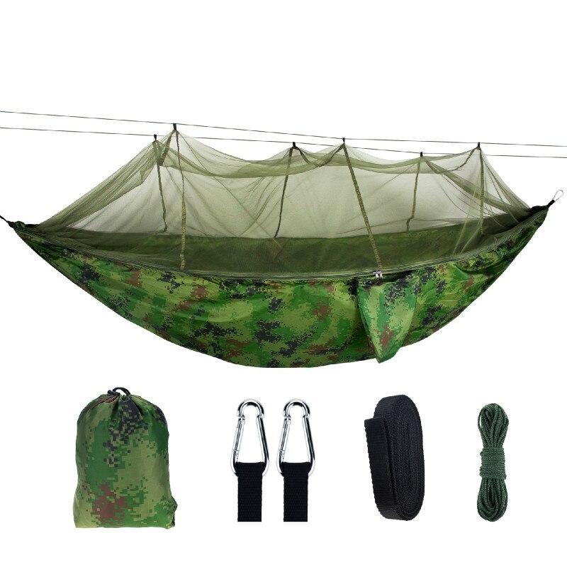 Outdoor Portable Camouflage Hammock Net Anti-mosquito Sleeping Bed Summer Hanging Swing Hamak Backyard Furniture