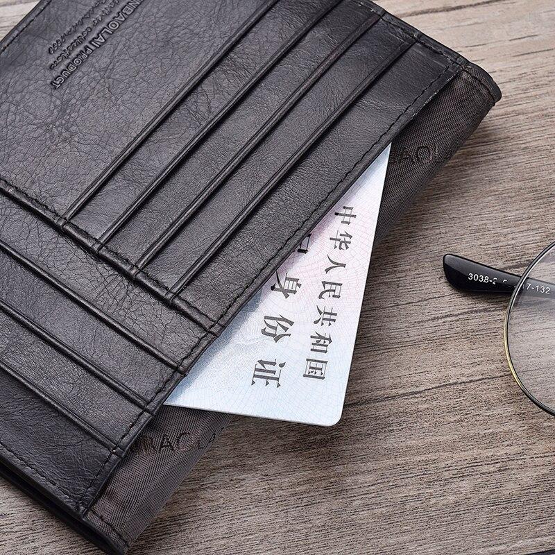 Echt leer paspoort Cover ID visitekaarthouder Travel Credit Wallet voor mannen (14)