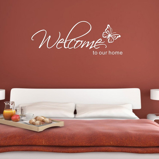 welcome series home decor wall stickers english poem proverbs
