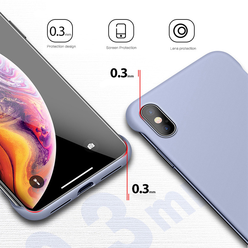 Lovebay Slim Scrub Hard PC Frameless Phone Case For iphone 11 6 6S 7 8 Plus