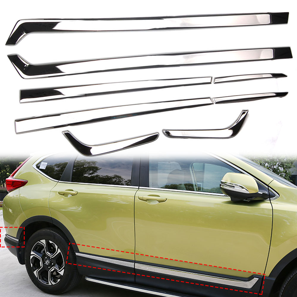 Custom for 2019-2020 BMW X5 Chrome Stainless Steel Pillar Post Trim 8PCS Tyger Auto Made in USA