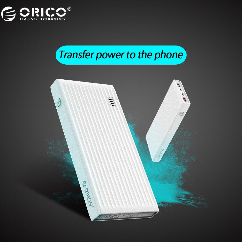ORICO 10000 mah Puissance Banque QC3.0 Externe Batterie BC1.2 Trois Sortie 18 W Max Pour Moblie Téléphone