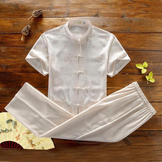 XXXL Chinese Kung Fu Suit Tai Chi Clothing Linen Uniform Taiji Wushu Kung Fu Suit Clothing in Traditional Chinese Clothing Sets