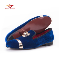 New Fashion Men Party And Wedding Handmade Loafers Men Velvet Shoes With PP Tiger And Gold