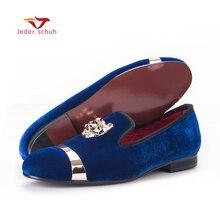 Новая модная мужская праздничная и Свадебная обувь ручной работы Мокасины мужские бархатные туфли с PP Тигра и золотистой пряжкой мужская модельная обувь мужские туфли на плоской подошве
