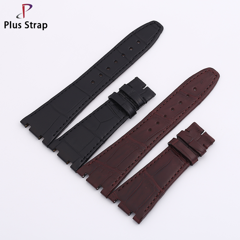 Plus Strap 26 28 MM Genuine Crocodile Leather Watch Band Strap Replacement Handmade Watches Belt Wristband все цены