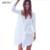 Camisa dress 2016 nova de algodão de manga longa lapela casual chic elegante arco sexy verão solto praia vestidos mulheres do partido vestidos