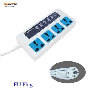 Image 2 - Interruptor de potencia inteligente con Control remoto, inalámbrico, SMS, GSM, caja de enchufe clavija para, controlador, relé de 4 canales con Sensor de temperatura