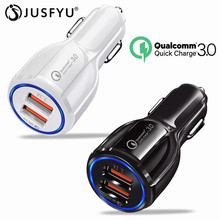 Car USB Charger Quick Charge 3.0 2.0 Mobile Phone 2 Fast For iPhone 7 Samsung Huawei Xiaomi