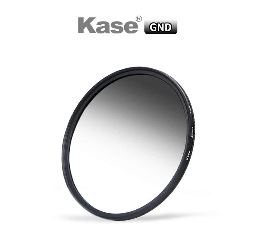 Kase 40.5mm/43-52/55/58/62/67/72/7782mm multi-enduit MC HD filtre à densité neutre graduée douce GND 0.9/GND 1.2 verre optique