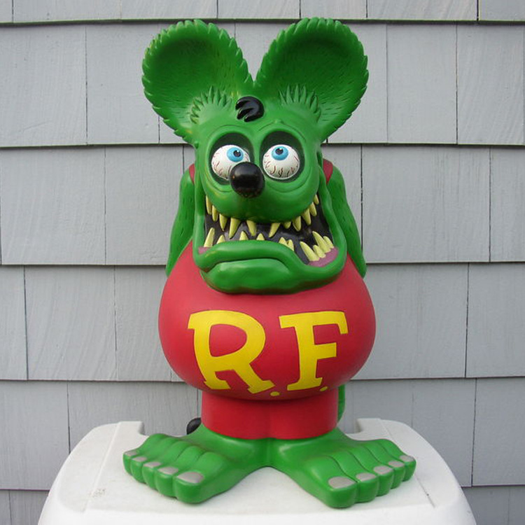 4/'/' Red Rat Fink Big Daddy Ed Roth Action Figure Toy Statue Model Doll Kid Gift