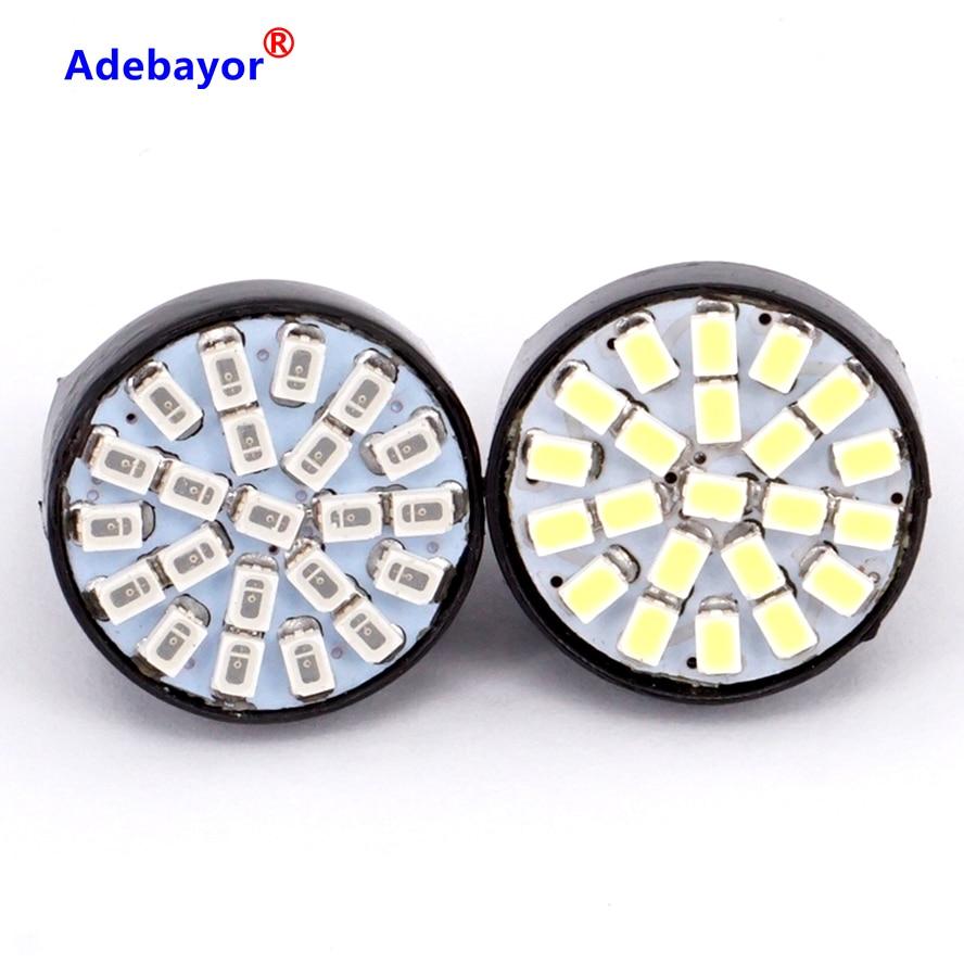 Wholesale 100X T20 22 LED 1206 3020 SMD Bulb 7443 7440 direction indicator lamp backup Light