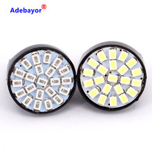 Wholesale 100X T20 22 LED 1206 3020 SMD Bulb 7443 7440 direction indicator lamp backup Light 12V red white yellow free shipping(China)