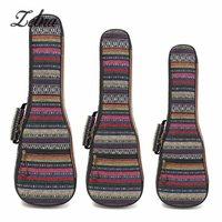 Zebra 21 23 26 Inch Padded Cotton Folk Portable Bass Guitar Gig Bag Ukulele Case Box