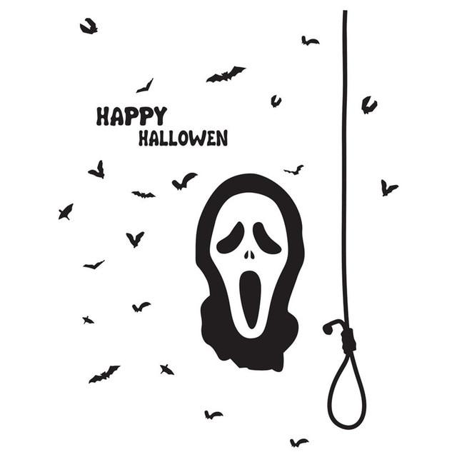 Halloween Fantasma Morcego Adesivo De Parede Dos Desenhos Animados