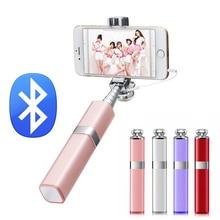 Ulanzi Универсальный Беспроводной мини селфи палка Bluetooth Селфи Стик монопод для iPhone Samsung Android смартфонов Лучший дизайн в форме помады-лучший подарок для девушек