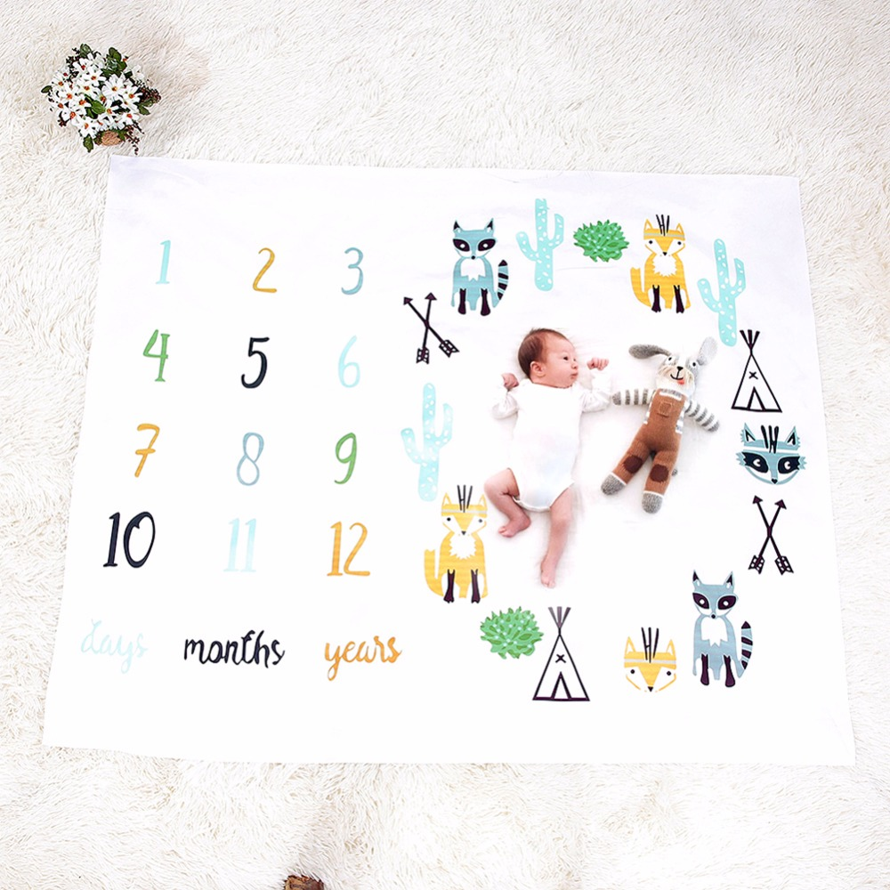 Baby Blankets Newborn Swaddle Wrap Flower Printed Cute Soft Blanket Muslin Swaddle DIY Photography Background Props Bath Towel