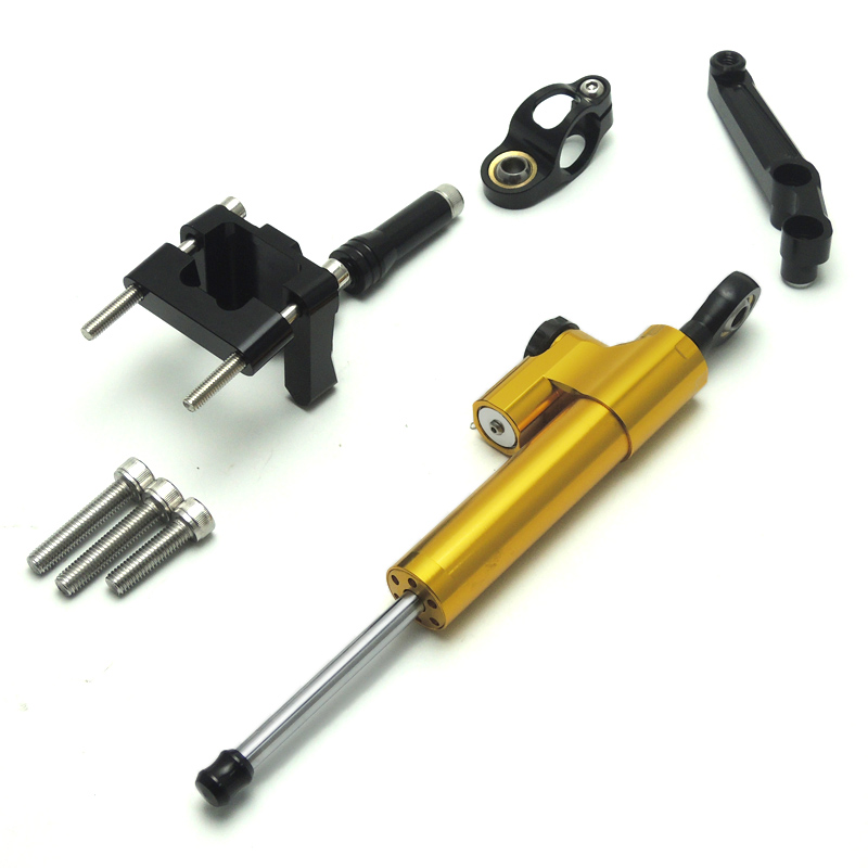ФОТО For kawasaki ninja Steering Stabilizer damper and Bracket for Kawasaki Ninja 250R EX250J 2008 2012