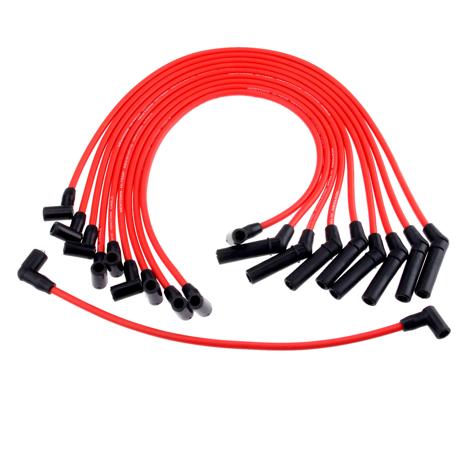 Yetaha 10Pcs 9mm Spark Plug Wires Ignition Cable Set M-12259-R301 For Ford Mustang F-150 5.0L/5.8L V8 ONLY
