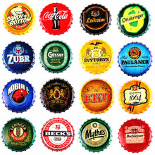 Retro wine bottle beer cover wall hanging creative bar cafe three-dimensional decoration American
