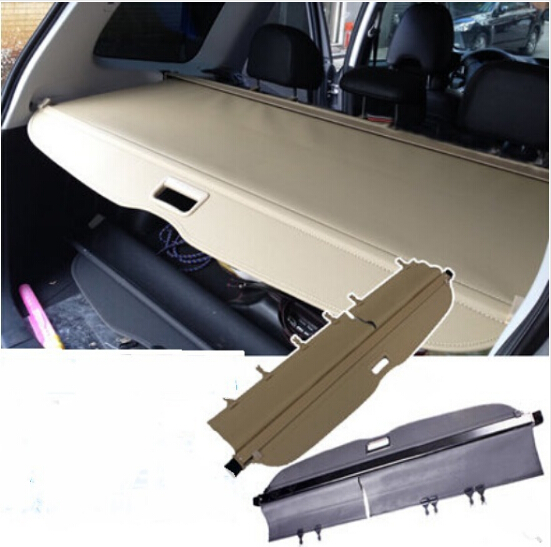 Car Rear Trunk Security Shield Shade Cargo Cover For Subaru Forester 2009 2010 2011 2012 / 2013 2014 2015 2016 2017(Black beige) car rear trunk security shield cargo cover for lexus rx270 rx350 rx450h 2008 09 10 11 12 2013 2014 2015 high qualit accessories