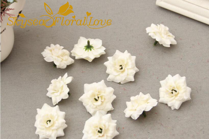 Artificial flowers arrangement DIY velvet mini rose heads silk ...