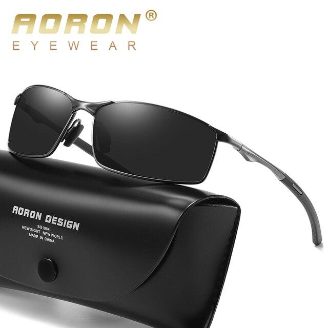 Aoron 2019 Mens Óculos Polarizados para Esportes, Ao Ar Livre de Condução Óculos De Sol Dos Homens, armação de Metal óculos de Sol Óculos de sol gafas de sol hombre